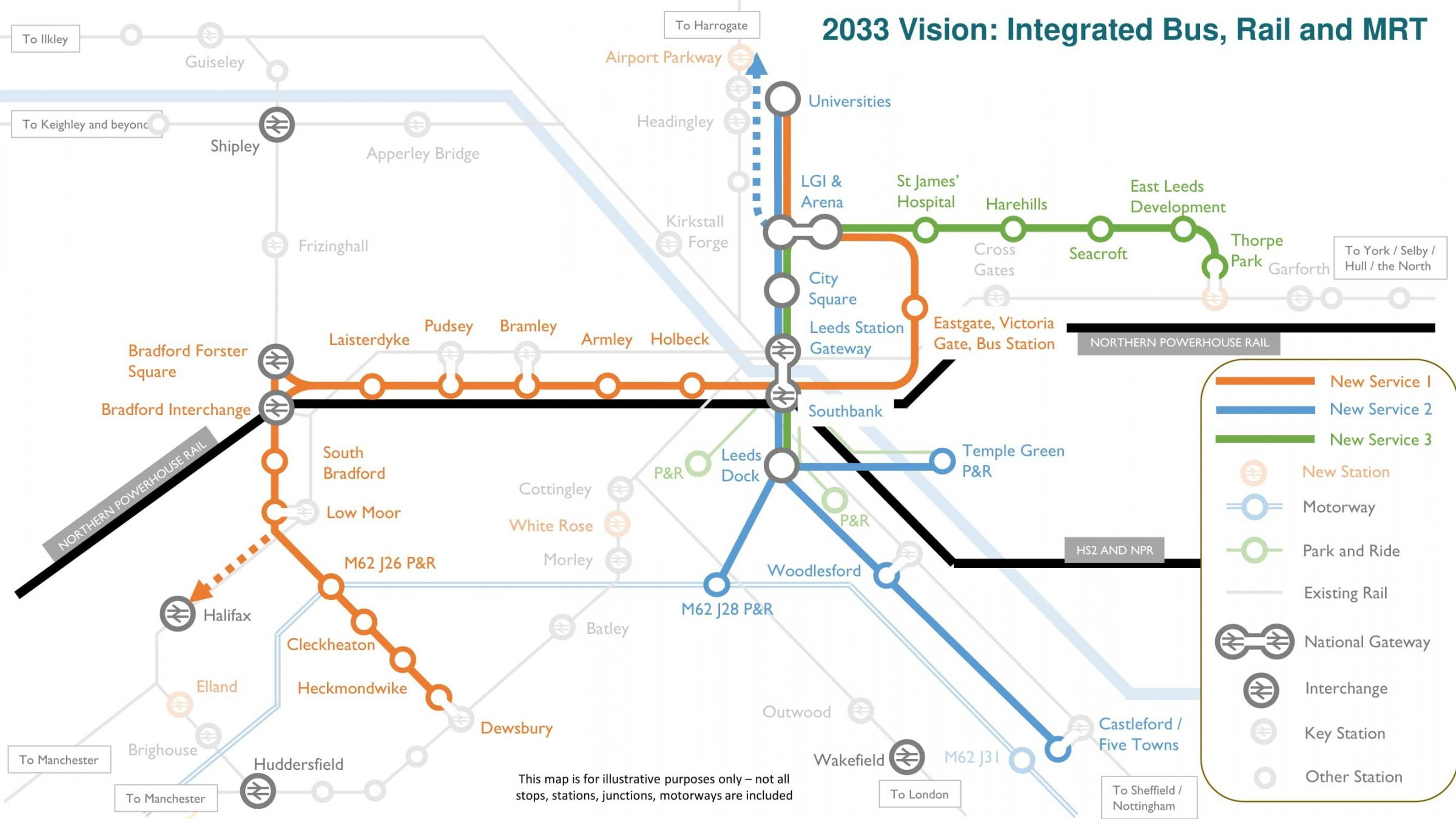 West Yorkshire mass transit plans